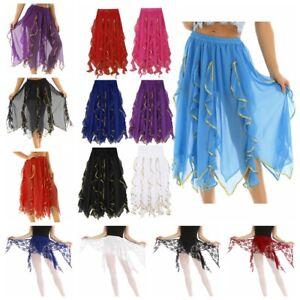 Women-Chiffon-Lace-maxi-Dress-Belly-Latin-Dance-Costume-Hip-Scarf-Wrap-Skirt