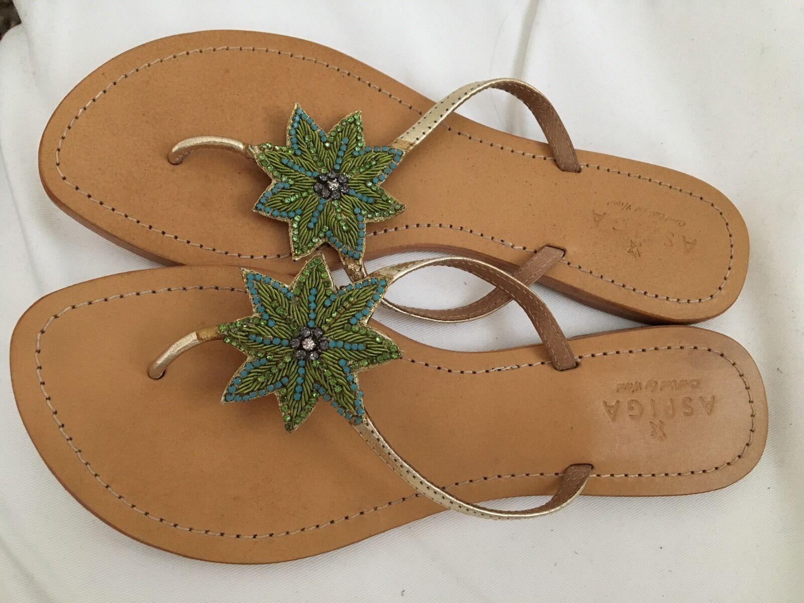 Aspiga Sandale Handgemacht Ungetragen Gr.40 Boho Style Neupreis