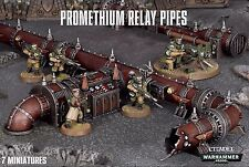 Promethium Relay Pipes. Warhammer 40k Scenery. Games Workshop