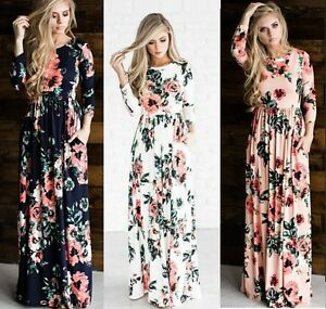 Maxi Dress Holiday Resort Wear Suitable Maternity Maternity Dress Floral Long 1a Ebay