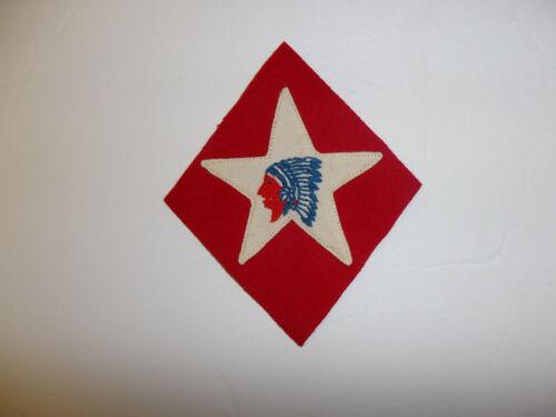 b0673 WW1 USMC 1-6th Marine Regiment atchd 2 division Indian Chief patch sm R5C