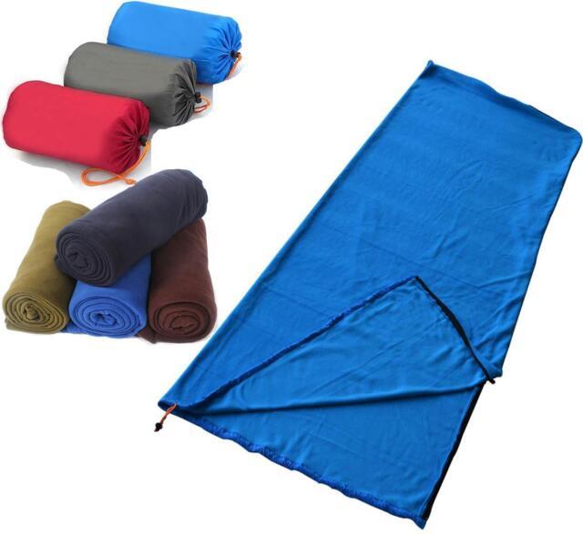Outdoor Portable Travel Camping Polar Fleece Sleeping Bag Blanket Lightweight