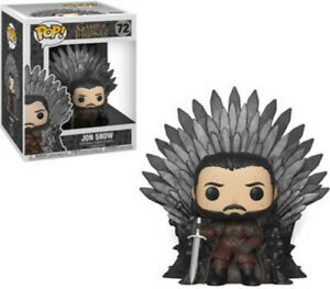 Game Of Thrones - Jon Snow Sitting On Iron Throne - Funko Pop! (2019, Toy NUEVO)