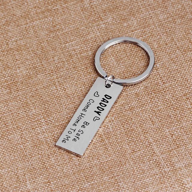 Lovely Alloy Men Letter Tag Keychain Keyring Key Holder Pendant Dad Gifts k