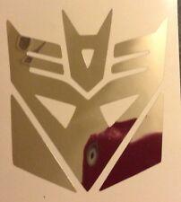 CHROME Transformers Decepticon Laptop Decal Vinyl Sticker Window New 17-26