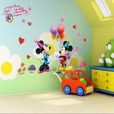Mickey Mouse Minnie Wall Sticker Decal Kids Baby Room Decor Cartoon Mural