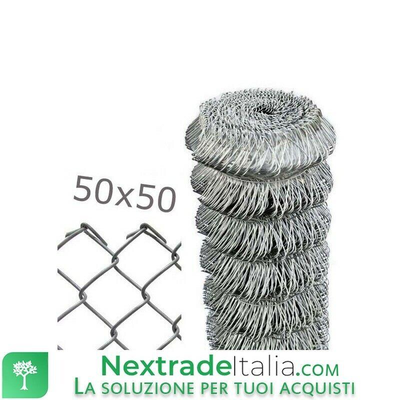 1PZ Rete per recinzione a MAGLIA SCIOLTA 25mt filo cm 175 H Maglia mm 50x50