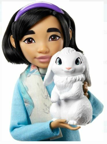 """SHIP NOW Netflix's Over the Moon Fei Fei 9/"""" Doll with Bungee Figure NIB"""