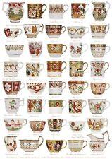 Giftwrap / Poster Print - English Georgian Tea & Coffee Ware - 700 x 500mm