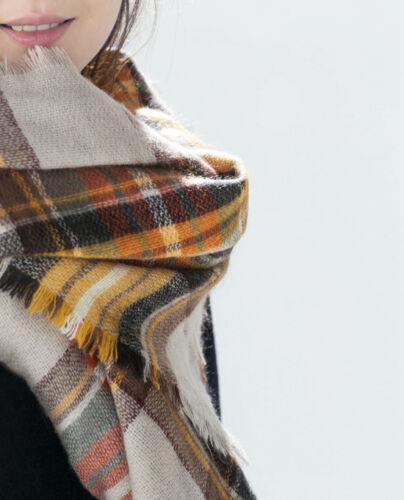 Lady Scotland Tartan Plaid Checked Pashmina Scarf Wrap Shawl Stole Warm Neck New
