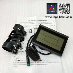 5pins-Waterproof-connector-KT-LCD3-Display-24V-36V-48V-Meter-Control-Panel-ebike