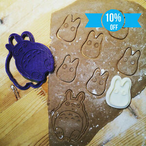 Studio-Ghibli-Totoro-Collection-Set-cookie-cutters-2pcs-Plastic-3dprinted