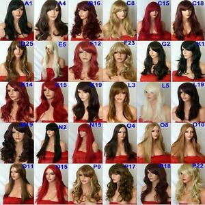 140-Styles-Black-Red-Brown-Blonde-Long-Curly-Straight-Wavy-Ladies-Fashion-Wigs