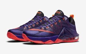 25f2d632b2fe1 NIKE LEBRON XII LOW 724557-565 court purple red raptors Toronto ...
