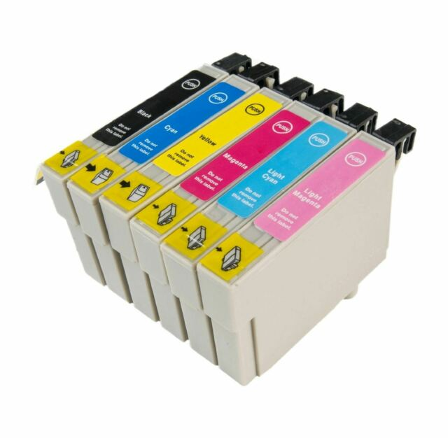 807 6 Pack Ink Cartridges Compatible for Epson Stylus Photo Rx585 Non OEM