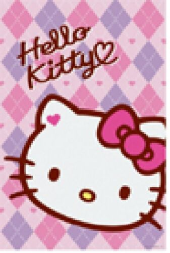 Sanrio Hello Kitty Pink Argyle Characters Wall Room Poster