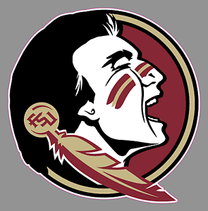 Florida state seminoles football logo 6 vinyl decal bumper window image is loading florida state seminoles football logo 6 034 vinyl voltagebd Choice Image