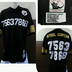 6582f9cb1d8 VTG RARE Mitchell   Ness STEELERS IRON CURTAIN JERSEY  75-63-78-68 ...
