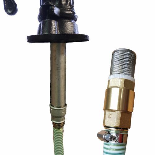 20m Saugschlauch Fußventil -- Schwengelpumpe Gartenpumpe Reduzieradapter