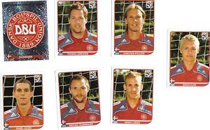 7-Panini-Sticker-354-355-356-358-361-362-369-Fussbal-WM-2010-Daenemark