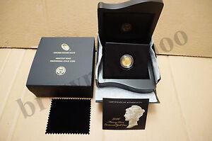 2016 W Mercury Dime Centennial Gold Coin w/ BOX & COA 1/10 oz 24k Gold 10¢