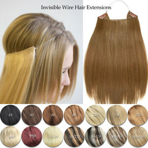Full-Head-100-Natural-Real-Human-Hair-Invisible-Wire-Hair-Extensions-Flip
