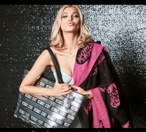 Victoria/'s Secret Pink Black Friday Duo Sherpa Blanket//Sequin Zippered Tote New.
