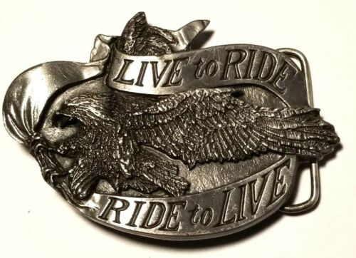 Vintage Ride to Live Live to Ride Belt Made in USA Mint Condition.