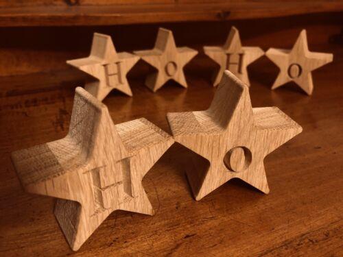Gravé Chêne étoiles en bois ⭐