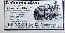 Lokomobilen bis 200 HP von HEINRICH LANZ Mannheim  Originalreklame Inserat 1899
