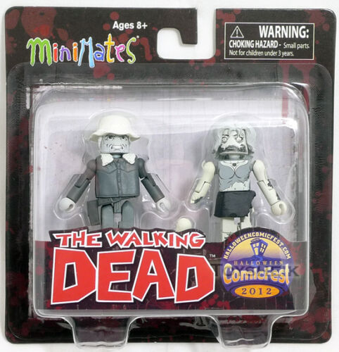 The Walking Dead Minimates Winter Coat Dale /& Female Zombie Halloween 101063