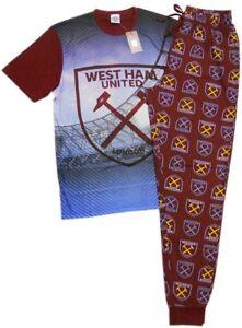 NEW 100% Official West Ham Utd FC Mens Lounge Pants Set Pyjamas Pajama HAMMERS