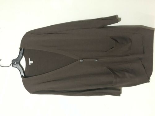 Rn frontale con cardigan Tasca Donna taglia alogena M 58665 Elegante a fasce marrone 6w4ccPxFgq
