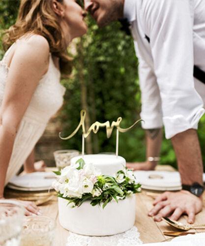 Cake-Topper Love in Gold 17cm Kuchendeko Tortendekoration