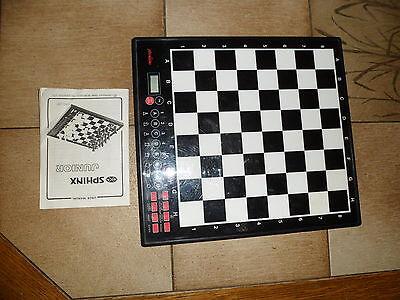 Affidabile Scacchi Chess Schneider Sphinx Junior Sammlerstueck Senza Figure-mostra Il Titolo Originale