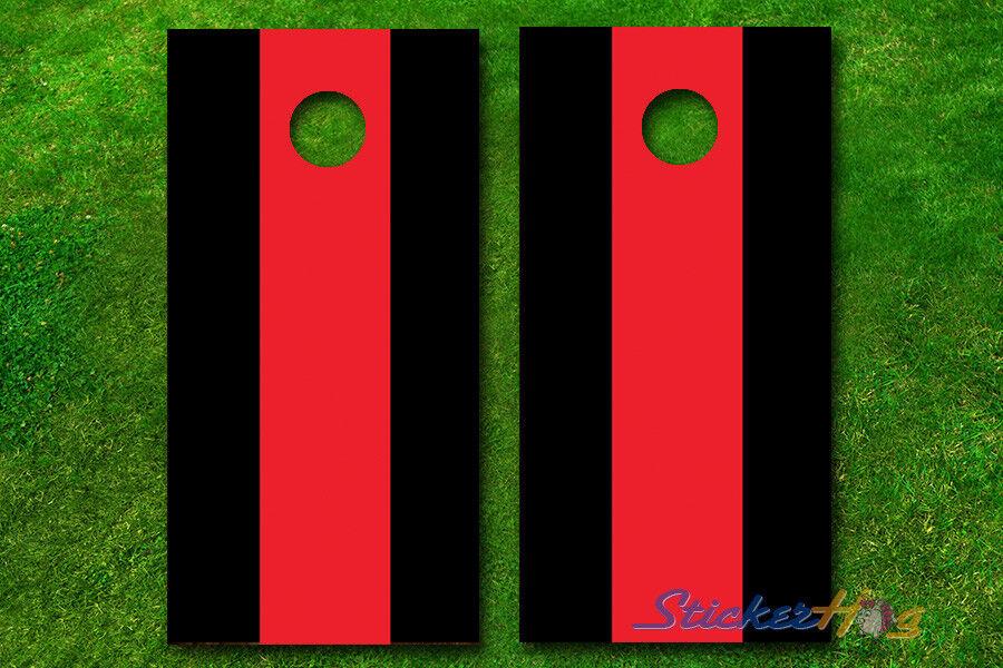 VINYL WRAPS 2 color Single Stripe Cornhole Boards DECALS