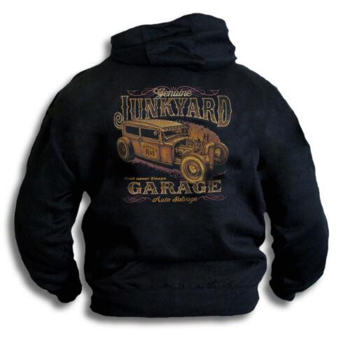 Rust Never Sleeps Genuine V8 Coupe Junk-yard Garage Mens Hoodie Top Rear Print