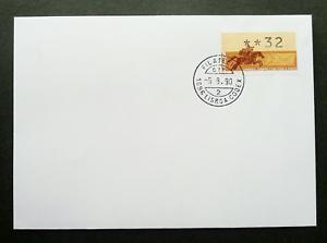 SJ-Portugal-Horse-Rider-1990-ATM-frama-label-FDC