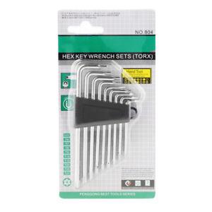 9-Stk-klein-Sicherheit-Torx-L-Schraubenschluessel-Torx-Schluessel-Satz-Werkzeug
