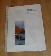 BMW 3 Series E36 Coupe Brochure 1995 -  316I 318IS 320I 328I
