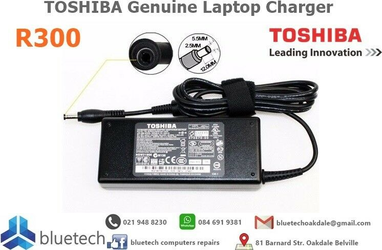 TOSHIBA Genuine Laptop Charger. Bluetech Computers 021 948 8230