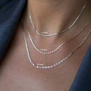 14K-Solid-Yellow-Rose-White-Tri-color-Gold-Valentino-Star-Chain-Necklace
