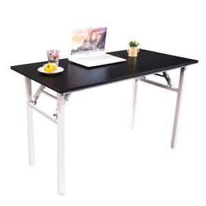 Halter Folding Computer Desk Writing Study Table 63 Black
