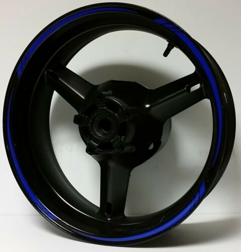 PLASMA BLUE GP STYLE REFLECTIVE RIM STRIPES WHEEL DECALS STICKERS TAPE FULL KIT