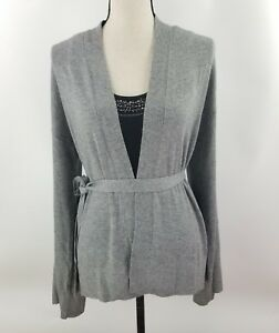 ANN-TAYLOR-LOFT-Womens-Gray-Acrylic-Blend-Open-Cardigan-Wrap-Sweater-Small-NWT