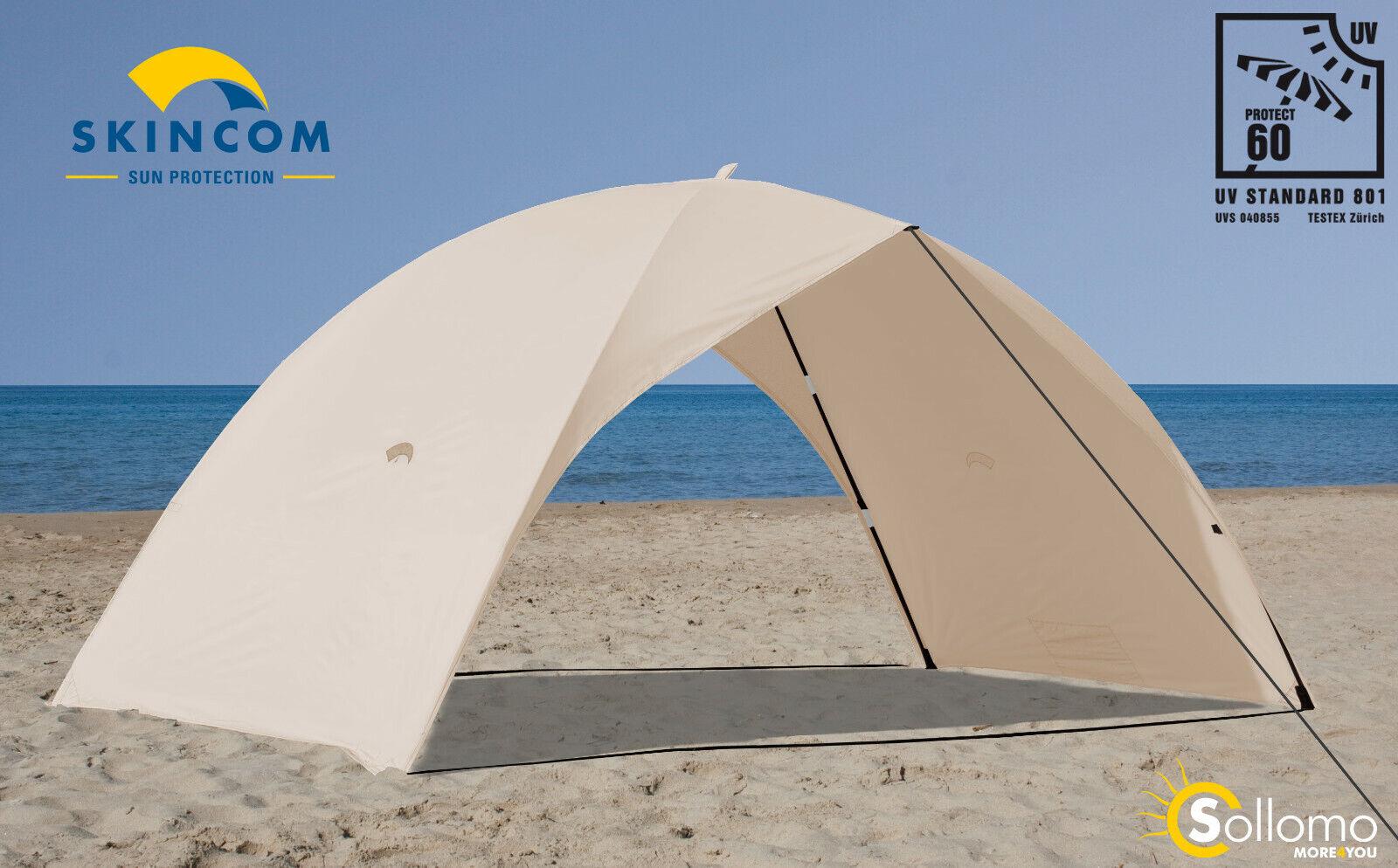 SKINCOM Easy For Two Wind UV60 Beige Sun Tent Beach Seashell Beach Tent