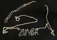 Zumba Fitness Statement Necklace - Silver Tone - Rare - With Box - Great Gift