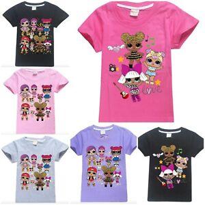 Bambole Lol 4 Bambina Bimba Cotone Maglietta T Anni Shirt 12 Maglia N0vwnm8
