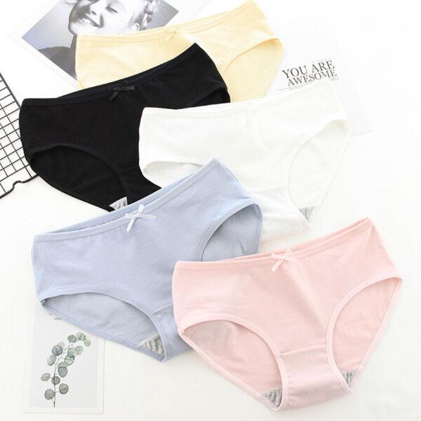 6er Damen Panties Unifarbe Panty Hotpants Hipster Slips Pants UNTERWÄSCHE Pantys