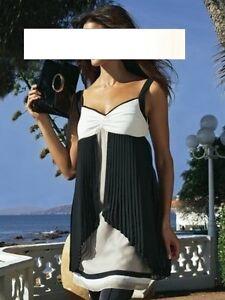 APART-Kleid-Tunika-Minikleid-Longtop-Gr-32-NEU-creme-weiss-schwarz